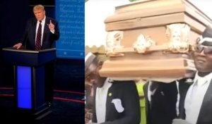 Hilarious As Americans Troll And Dedicate Ghana Infamous Pallbearers To Trump After Testing Positive For COVID19