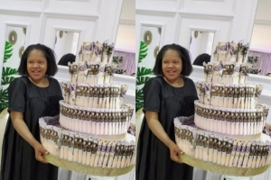 Have you seen the Huge Birthday Money Cake of Toyin Abraham ? (Video)