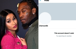 Cardi B deletes her Twitter account after receiving backlash for reconciling with Offset