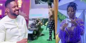 "#BBNaija: ""Konji na bastard"" — Reactions as Cross shows Angel his 'John Thomas' (Video)"