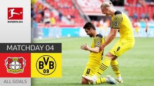 Bayer Leverkusen vs  Dortmund 3 - 4 (Bundesliga 2021 Goals & Highlights)