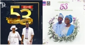 Pastor E.A Adeboye And Wife Celebrate 53rd Wedding Anniversary