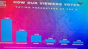 BBNaija: How Viewers Voted for Whitemoney, Cross, Liquorose