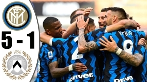 Inter Milan vs Udinese 5 − 1 (Serie A  Goals & Highlights 2021)