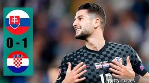 Slovakia vs Croatia 0 − 1 (2022 World Cup Qualifiers Goals & Highlights)