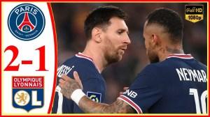 PSG vs Lyon 2 − 1 (Ligue 1 2021 Goals & Highlights)