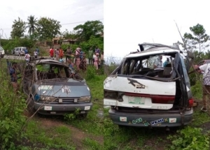 SO SAD!!! Man Dead, Eight Injured In Osun As Car Tumbles While Moving