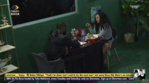 BBNaija: Highlights Of Emmanuel And Liquorose Dinner Date