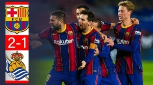 Barcelona vs Real Sociedad 2 - 1 (LA Liga Goals & Highlights)