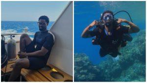 """Notin Go Make Me Do Dis Tin Again"" – Ric Hassani Shares Photos Of Him Underwater"