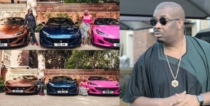 Don Jazzy promises his unborn kids luxury as he react to Otedola's Ferrari gift to his daughters