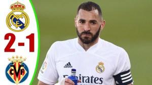 Real Madrid vs Villarreal 2 − 1 (LaLiga Goals & Highlights 2021)