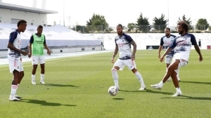 Real Madrid Train Ahead Of The Match Against Levante
