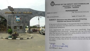 UNICAL Authorities Frowns Over Increasing Rate Of Sorting, Says Lecturers Give Students Scripts To Write Exams At Homes, Hotels And Relaxation Places