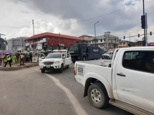 Lagos Police Begin Show of Force Ahead of #EndSARSMemorial Tomorrrow (Photos)
