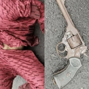 Notorious armed robber shot dead in Imo, police revolver pistol recovered from him (photos)