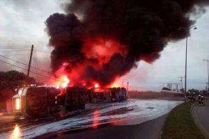 JUST IN!!! Five Confirmed Dead In Ogun Tanker Explosion