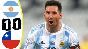 Argentina vs Chile 1 − 1 (Copa America  2020 Goals & Highlights)