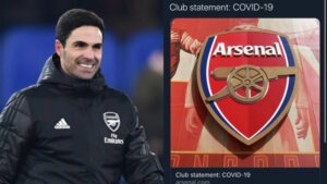 Breaking: Arsenal Head coach Mikel Arteta tested positive for Coronavirus