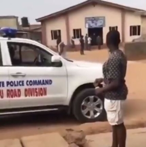 Drama As Ogun Officials Storm Church, Arrest Pastor For Having More Than 50 Members In His Church (Video)