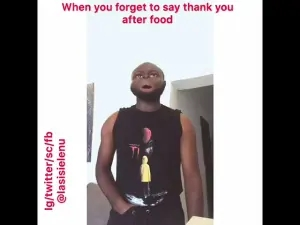 Lasisi Elenu - When You Forget To Say Thank You After Food (Comedy Video)