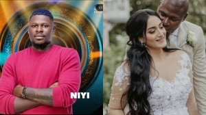 #BBNaija 2021: Loved-Up Photos Of Season 6 Housemate Niyi And His Beautiful White Wife