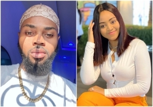 Regina Daniels' Brother Spotted Smoking Weed In A Coded Location