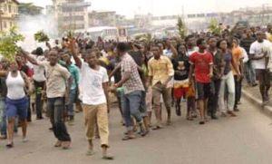 BREAKING: Protest Rocks Ibadan Over Sunday Igboho's Detention In Benin Republic