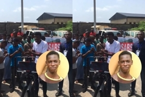 TASUED Students Stormed #EndSARS Judicial Panel To Protest The Killing Of Their Colleague, Pelumi Onifade (Video)