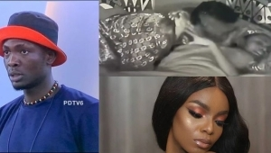 """BBNaija: """"I Don't Want"""" – Peace Shuns Sammie As He Tries To Kiss Her Before Retiring To Bed (Video)"""
