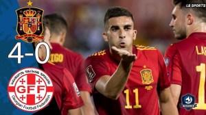 Spain vs Georgia 4 - 0 (2022 World Cup Qualifiers Goals & Highlights)