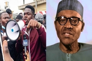 Mr. Macaroni cries out as he urges president Buhari to resign