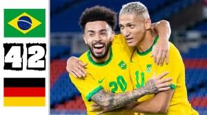 Brazil vs Germany 4 - 2  (Olympic 2021 Goals & Highlights)