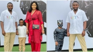 """""""Beautiful Family"""" – Reactions As Ubi Franklin And His Ex-wife, Lillian Esoro Team Up For Their Son's 5th Birthday Party"""