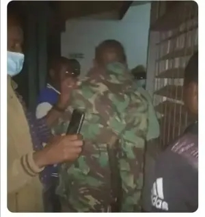 SERIOUS GOBE!! Police Officer Caught Red-Handed Raping A COVID-19 Patient In Quarantine
