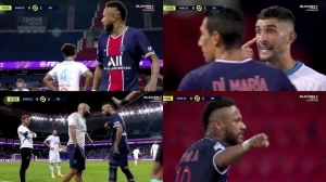 The Brazilian Was Furious After Clashing With The Marseille Central Defender