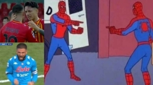 Lorenzo, Roberto, And The Spiderman Meme. Great Goal From Insigne To Cancel Out Insigne's Opener