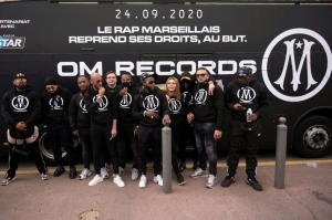 Rap Artists From Marseille Pose In Front Of A Bus