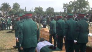 JUST IN!!! Policeman Killed By Kidnappers Buried Amidst Tears In Ekiti