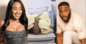 #BBNaija: Watch The Moment Erica And Kiddwaya Romanced Before The Party Started (video)
