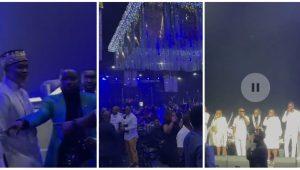 Ramsey Noah, Funke Akindele, Ubi Franklin Others Storm Richard Mofe-Damijo's 60th Birthday Party (Video)