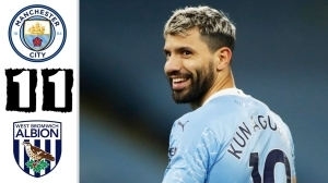 Manchester City vs West Brom 1 - 1 (EPL Goals & Highlights)