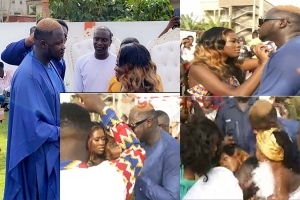 Drama As Popular Actress, Fella Makafui Collapses At Her Own Wedding In Ghana (Video)