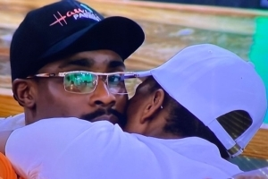 #BBNaija: Neo And Vee Lock Lips After Securing A Spot In The Grand Finale (Watch Video)