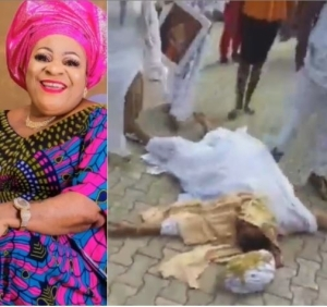 Oh No! Nigerian Actress, Nkechi Sunday Blessing Collapses At Her Mum
