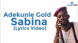 Adekunle Gold - Sabina (Lyrics Video)