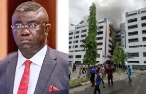 Official records are intact, fire at Accountant-General's office was caused by a spark from an Air Conditioner - Minister