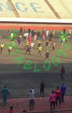 Shock As Referee Is Beaten To Coma By Irate Fans After A Football Game In Kogi State (Video)