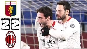 Genoa vs Milan 2 - 2 (Serie A Goals & Highlights)