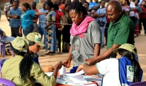 Lagos LG Polls: Voters without face masks turned back